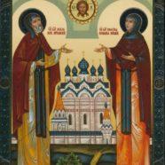 Молодежный актив храма принял молитвенное участие в Богослужение  в день памяти святых благоверных князей Петра и Февронии Муромских