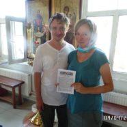 Воскресное Богослужение в храме, раздача миссионерских листовок.
