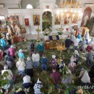 Богослужение в храме в день Святой Троицы, Пятидесятницы