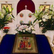 Богослужение в храме Священномученика Серафима в праздник Введения во храм Пресвятой Богородицы