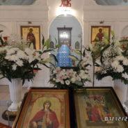 Народный хор прихожан храма Священномученика Серафима принял участие в Богослужении в субботу