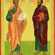Праздничное Богослужение в храме в день памяти первоверховных апостолов Петра и Павла